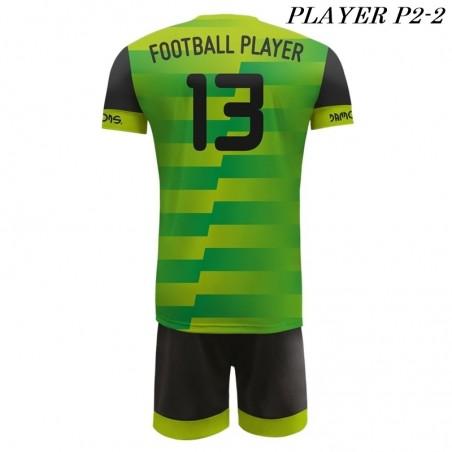 Strój Piłkarski Damons PLAYER P2 zielono czarne