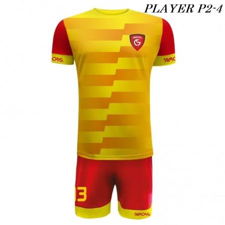 Strój Piłkarski Damons PLAYER P2 żółto czerwone