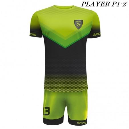 Strój Piłkarski Damons PLAYER P1 zielono czarne