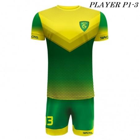 Strój Piłkarski Damons PLAYER P1 zielono żółte