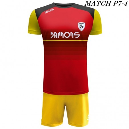 Strój Piłkarski Damons MATCH P7 w kolorze czerwonym, żółtym i czarnym