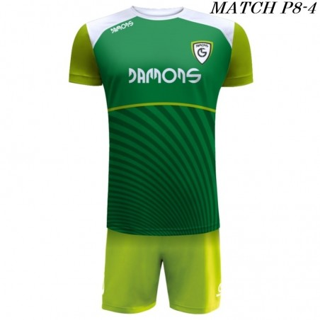 Strój Piłkarski Damons MATCH P8 kolory dominujące zielony i seledyn
