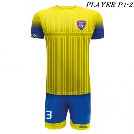 Strój Piłkarski Damons PLAYER P4 żółto niebieski