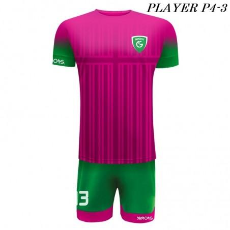 Strój Piłkarski Damons PLAYER P4 różowo zielony