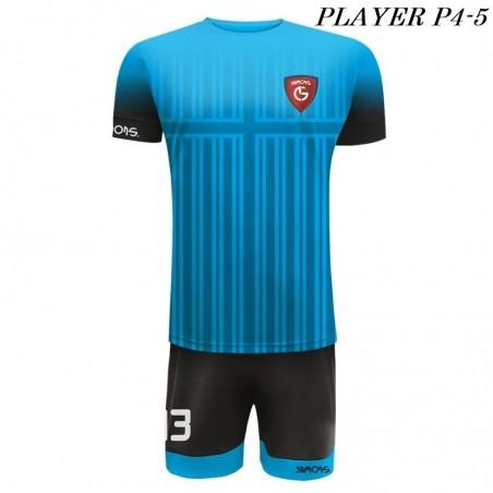 Strój Piłkarski PLAYER P4 niebiesko czarny