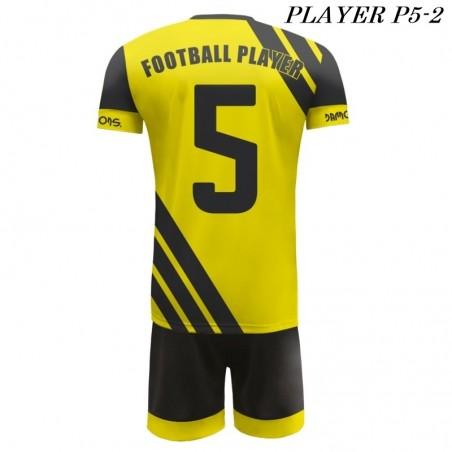 Strój Piłkarski Damons PLAYER P5 żółto czarny