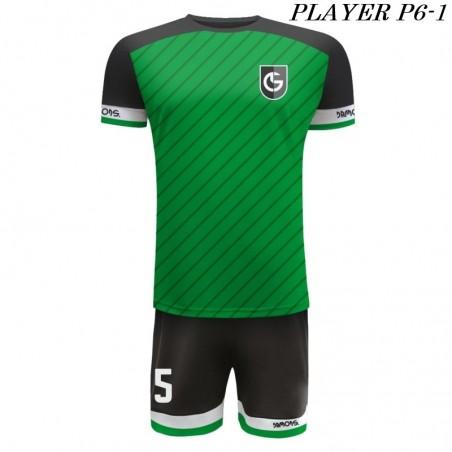 Strój Piłkarski Damons PLAYER P6 zielono czarny