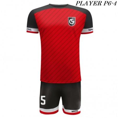 Strój Piłkarski Damons PLAYER P6 czerwono czarnee