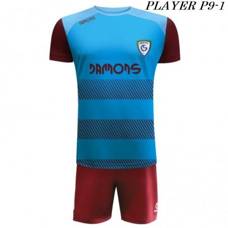 Strój Piłkarski Damons PLAYER P9 niebiesko bordowy