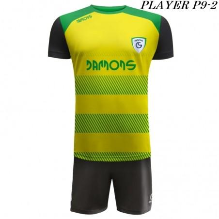 Strój Piłkarski Damons PLAYER P9 żółto czarny