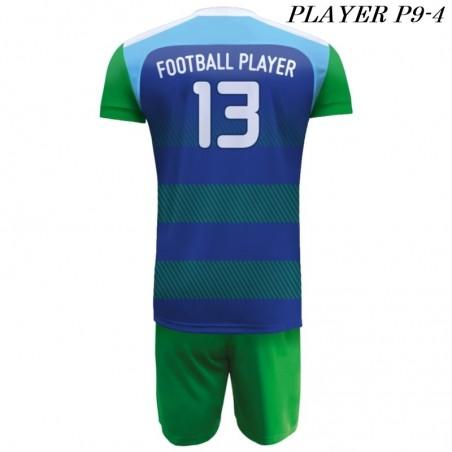 Strój Piłkarski Damons PLAYER P9 niebiesko zielony