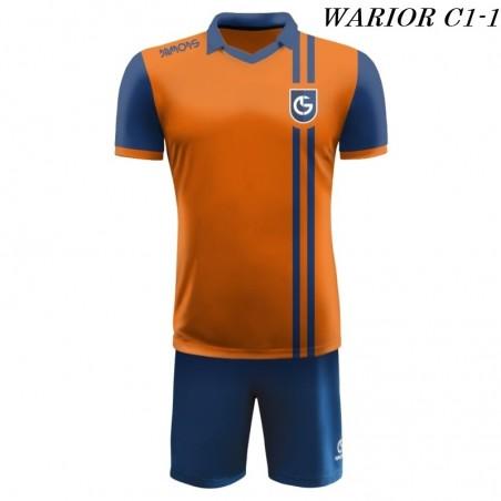 Strój Piłkarski Damons WARRIOR C1 pomarańczowo niebieski