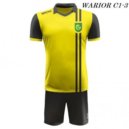 Strój Piłkarski Damons WARRIOR C1 żółto czarny