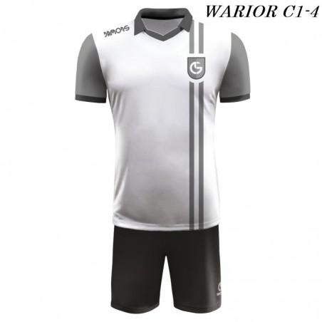 Strój Piłkarski Damons WARRIOR C1 biało czarny