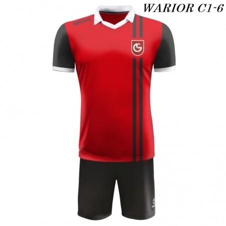 Strój Piłkarski Damons WARRIOR C1 czerwono czarny
