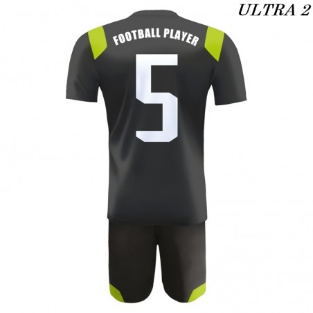Strój Piłkarski Damons ULTRA czarny tył
