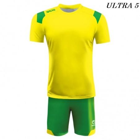 Strój Piłkarski Damons ULTRA żółto zielony