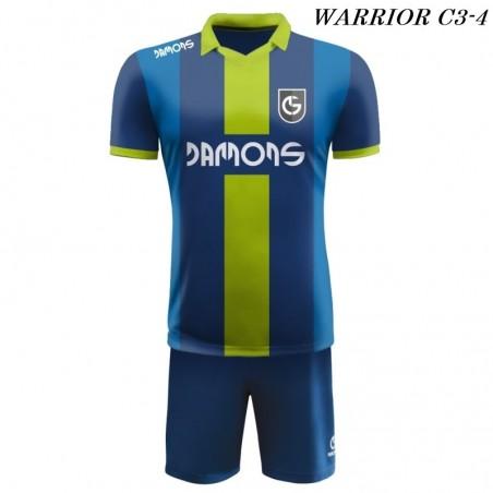 Strój Piłkarski Damons WARRIOR C3 granatowo zielono niebieskie