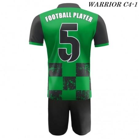 Strój Piłkarski Damons WARRIOR C4 zielono czarny plecy