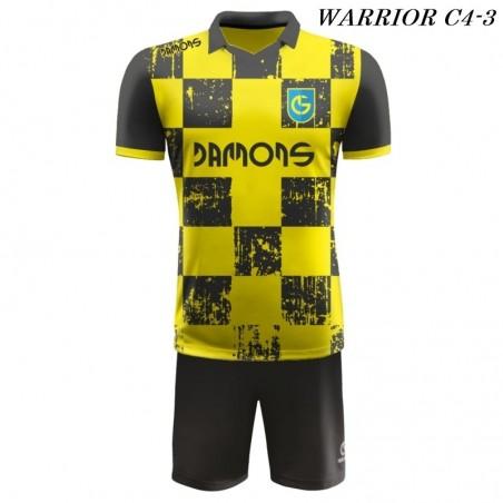 Strój Piłkarski Damons WARRIOR C4 żółto czarny