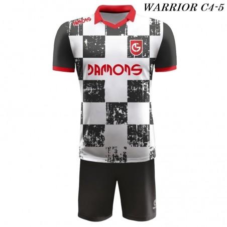 Strój Piłkarski Damons WARRIOR C4 bialo czarny