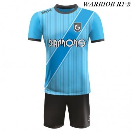 Strój piłkarski Damons Warrior R1 niebiesko czarne