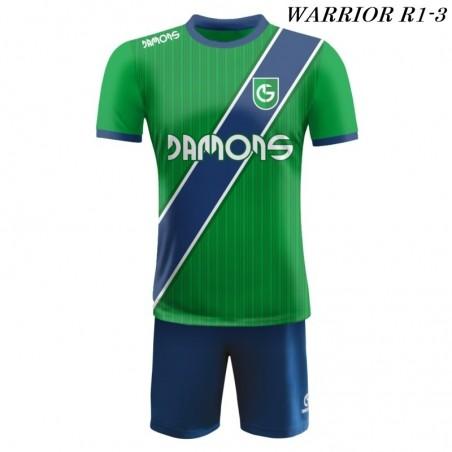 Strój piłkarski Damons Warrior R1 zielono granatowe