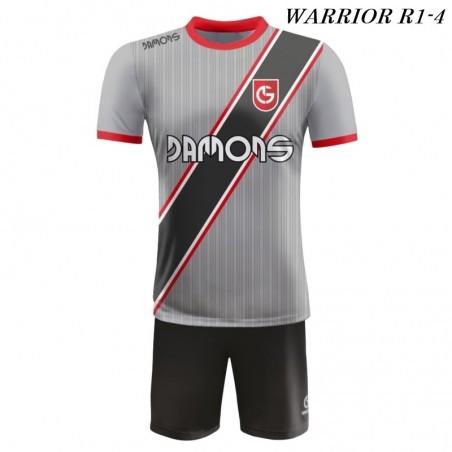 Strój piłkarski Damons Warrior R1 szaro czarne