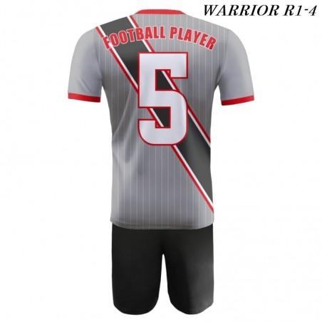 Strój piłkarski Damons Warrior R1 szaro czarne tył