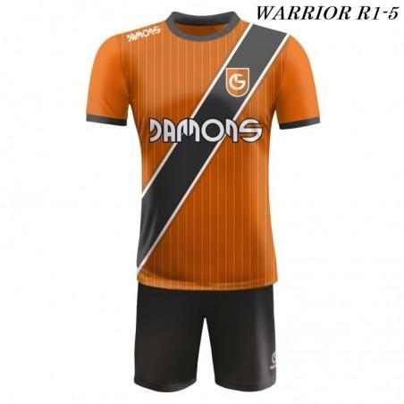 Strój piłkarski Damons Warrior R1 pomarańczowo czarne