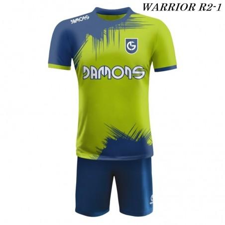 Strój piłkarski Damons Warrior R2 Zielono granatowy