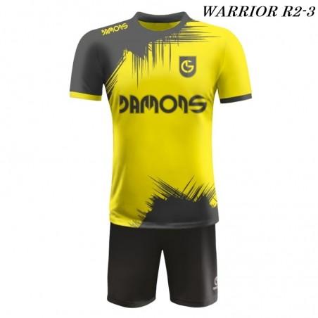 Strój piłkarski Damons Warrior R2 Żółto czarny
