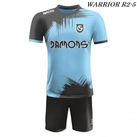 Strój piłkarski Damons Warrior R2 błękitno czarny