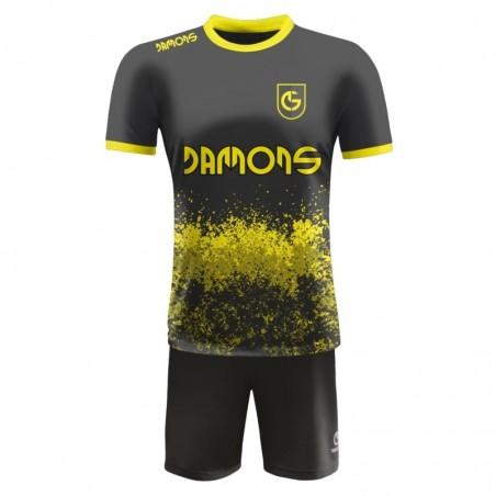 Strój piłkarski Damons Warrior R3 żółto czarny