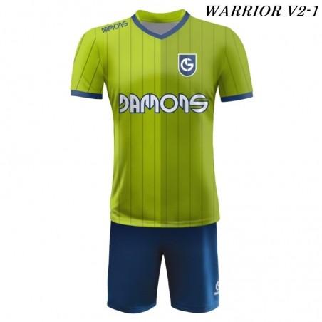 Strój piłkarski Damons Warrior V2 zielono granatowe