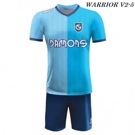 Strój piłkarski Damons Warrior V2 błękitno granatowe