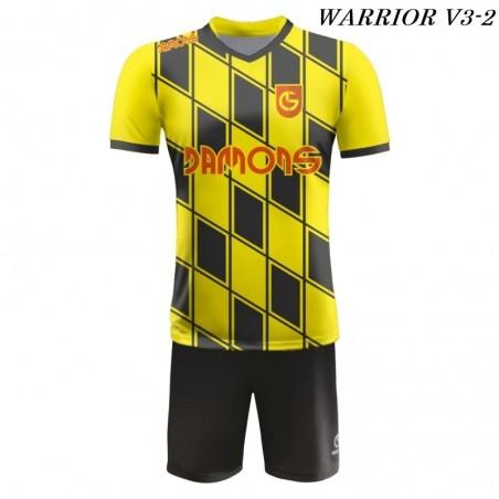 Strój piłkarski Damons Warrior V3 żółto czarny