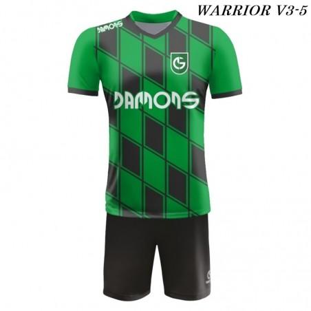 Strój piłkarski Damons Warrior V3 zielono czarny