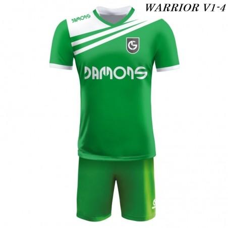 Strój piłkarski Damons Warrior V1 Zielono białe