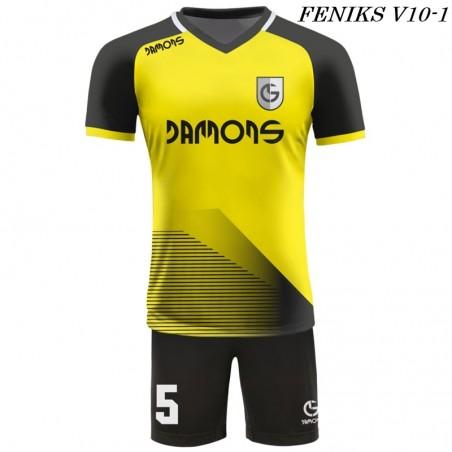 Strój piłkarski Damons FENIKS V9 kolor dominujący żółty