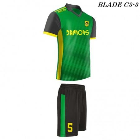 Strój piłkarski Damons BLADE C3 zielone