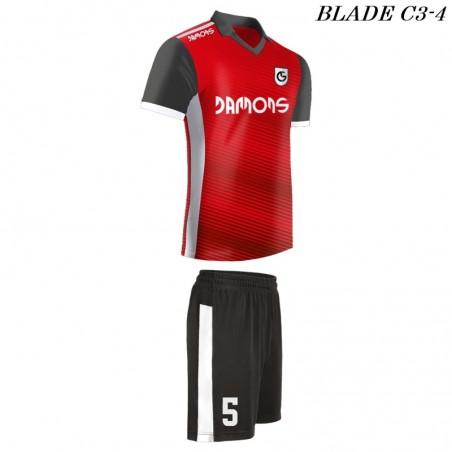 Strój piłkarski Damons BLADE C3 czerwone