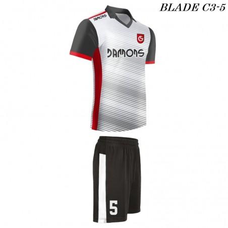 Strój piłkarski Damons BLADE C3 kolor dominujący biały