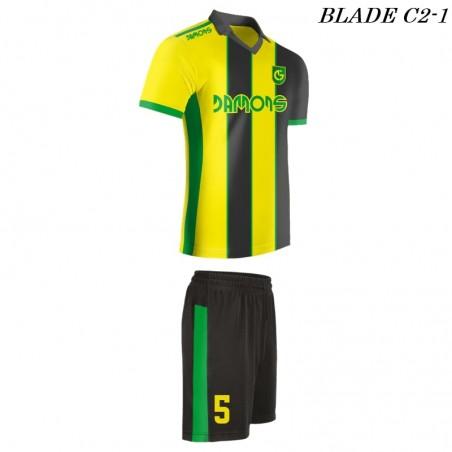 Strój piłkarski BLADE C2 żółto czarne profil