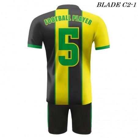 Strój piłkarski BLADE C2 żółto czarne plecy
