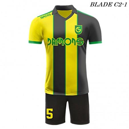 Strój piłkarski BLADE C2 żółto czarne przód