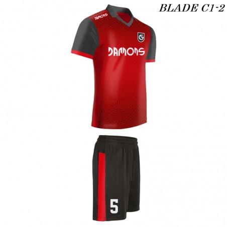 Strój piłkarski BLADE C1 czerwień