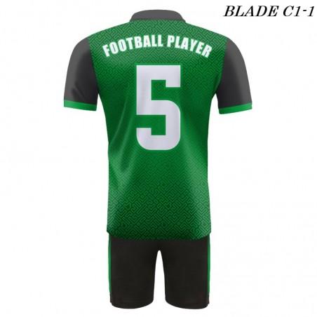 Strój piłkarski BLADE C1 zielony plecy