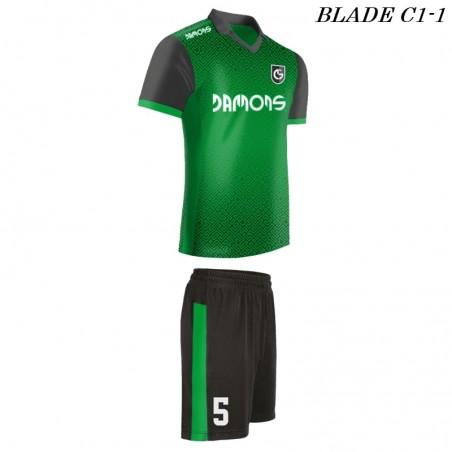 Strój piłkarski BLADE C1 zielony drugi profil