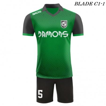 Strój piłkarski BLADE C1 zielony przód